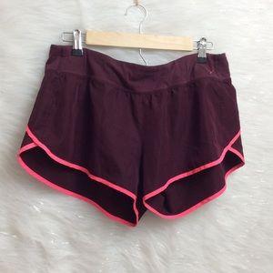 PINK running shorts.